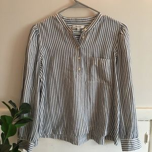 Madewell stripe popover top